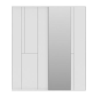 ชุดห้องนอน ตู้เสื้อผ้าบานเลื่อน รุ่น Glaze สีสีขาว-SB Design Square
