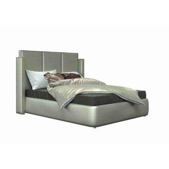 เตียงนอน ขนาด 5 ฟุต รุ่น Catalyn สีเงินมุก