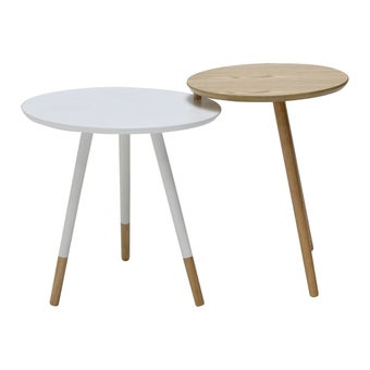 โต๊ะข้าง โต๊ะข้างไม้ล้วน รุ่น Aino-SB Design Square