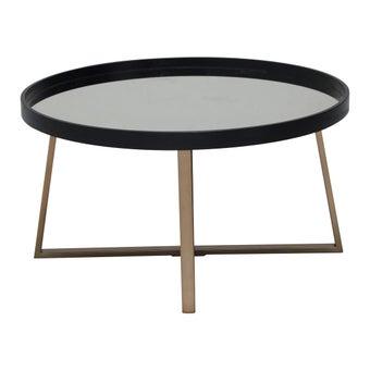 โต๊ะกลาง โต๊ะกลางเหล็กท๊อปกระจก รุ่น Amuse สีสีดำ-SB Design Square