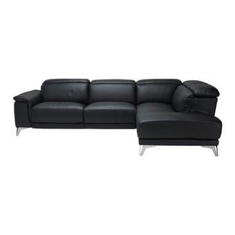 เก้าอี้พักผ่อนหนังแท้ เก้าอี้พักผ่อนปรับระดับไฟฟ้าเข้ามุม รุ่น Larent สีสีดำ-SB Design Square