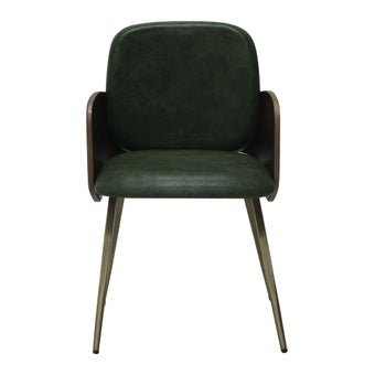 เก้าอี้ทานอาหาร เก้าอี้เหล็กเบาะหนัง รุ่น Morning สีสีเขียว-SB Design Square