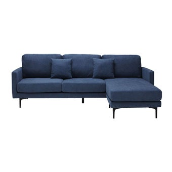 โซฟาผ้า โซฟาเข้ามุมสลับด้านได้ซ้าย/ขวา รุ่น Sevan สีสีฟ้า-SB Design Square