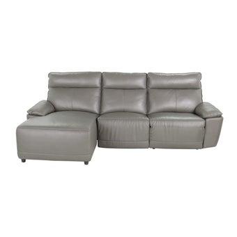 เก้าอี้พักผ่อนหนังแท้เข้ามุมซ้าย รุ่น Snazzy  สีเทา-01