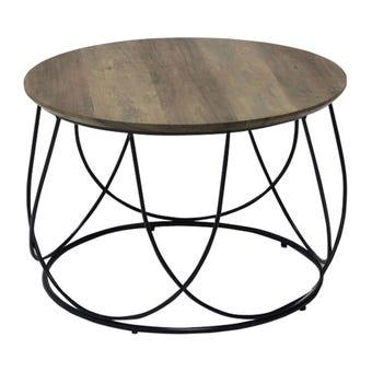 โต๊ะกลาง โต๊ะกลางเหล็กท๊อปไม้ รุ่น Sanity-SB Design Square