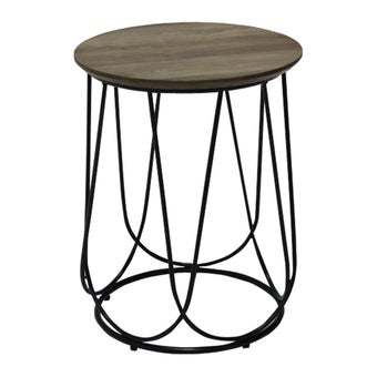 โต๊ะข้าง โต๊ะข้างเหล็กท๊อปไม้ รุ่น Sanity-SB Design Square