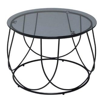 โต๊ะกลาง โต๊ะกลางเหล็กท๊อปกระจก รุ่น Scotch-SB Design Square