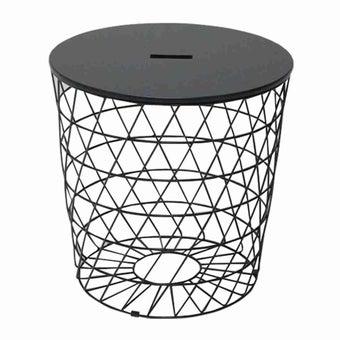 โต๊ะข้าง โต๊ะข้างเหล็กท๊อปไม้ รุ่น Savoir-SB Design Square