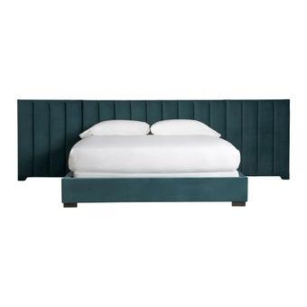 เตียงนอน ขนาดพิเศษ รุ่น Nina Magon สีเขียว-00