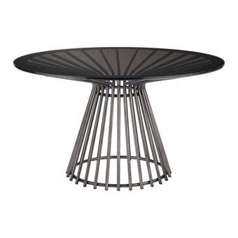 โต๊ะทานอาหาร โต๊ะอาหารขาเหล็กท๊อปกระจก รุ่น Nina Magon-SB Design Square
