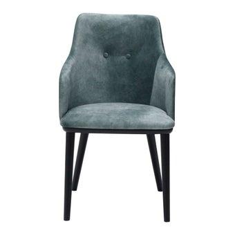เก้าอี้ทานอาหาร เก้าอี้ไม้เบาะผ้า รุ่น Muffin สีสีเขียว-SB Design Square