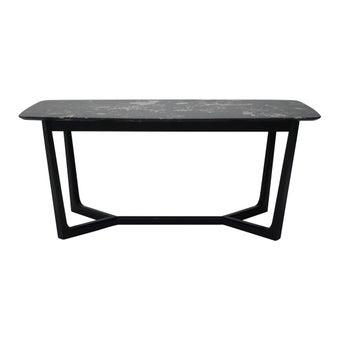 โต๊ะทานอาหาร โต๊ะอาหารขาไม้ท๊อปเซรามิค รุ่น Melela สีสีดำ-SB Design Square