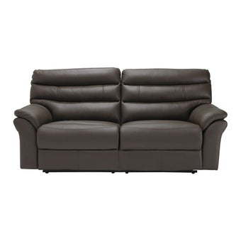 เก้าอี้พักผ่อนหนังแท้ เก้าอี้พักผ่อน 3 ที่นั่ง รุ่น Giony สีสีน้ำตาล-SB Design Square