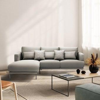 โซฟาผ้า โซฟาเข้ามุมซ้าย รุ่น Genovo สีสีเทา-SB Design Square