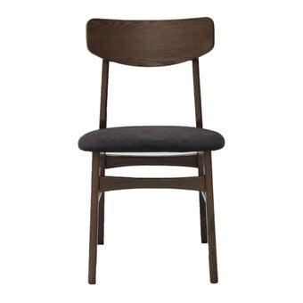 เก้าอี้ทานอาหาร เก้าอี้ไม้เบาะผ้า รุ่น Minho สีสีน้ำตาล-SB Design Square