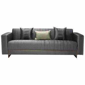 โซฟาผ้า โซฟา 3 ที่นั่ง รุ่น Osify สีสีเทา-SB Design Square