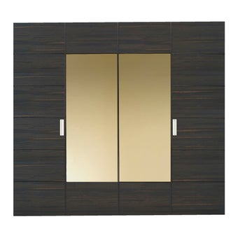 ชุดห้องนอน ตู้เสื้อผ้าบานเฟี้ยม รุ่น Zen สีสีลายไม้ธรรมชาติ-SB Design Square