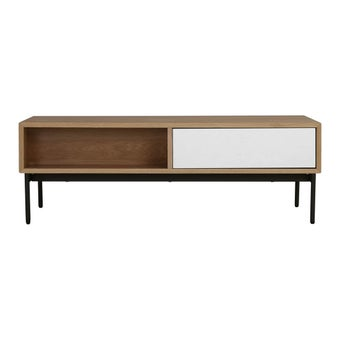 โต๊ะกลาง โต๊ะกลางเหล็กท๊อปไม้ รุ่น Hiller-SB Design Square