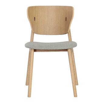 เก้าอี้ทานอาหาร เก้าอี้ไม้เบาะผ้า รุ่น Habiola-SB Design Square