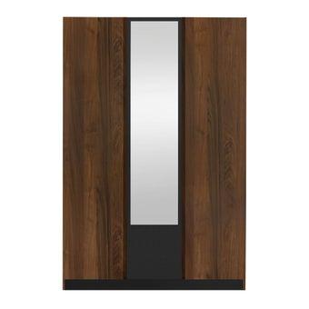 ชุดห้องนอน ตู้เสื้อผ้าบานเปิด รุ่น Patinal สีสีลายไม้ธรรมชาติ-SB Design Square