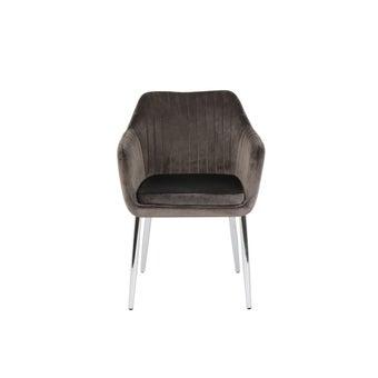 เก้าอี้ทานอาหาร เก้าอี้เหล็กเบาะผ้า รุ่น Yogana สีสีเทา-SB Design Square