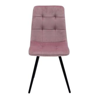 เก้าอี้ทานอาหาร เก้าอี้เหล็กเบาะผ้า รุ่น Yipsang สีสีชมพู-SB Design Square