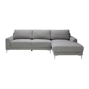 โซฟาผ้า โซฟาเข้ามุมขวา รุ่น Tennes สีสีเทา-SB Design Square