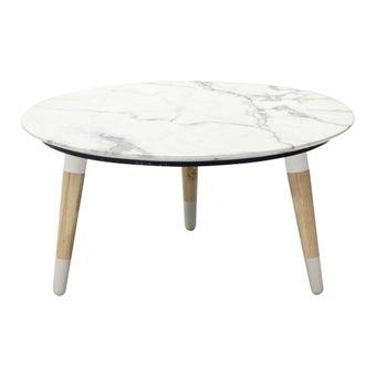 โต๊ะกลาง โต๊ะกลางไม้ท๊อปหิน รุ่น Racco สีสีขาว-SB Design Square