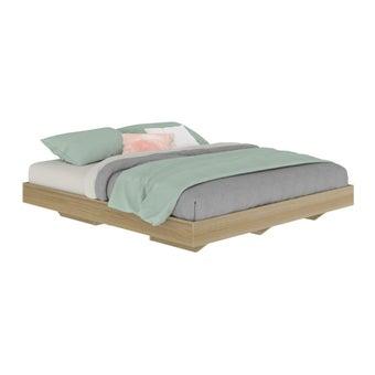 เตียงนอน ขนาด 6 ฟุต รุ่น Blissey สีโอ๊ค-03