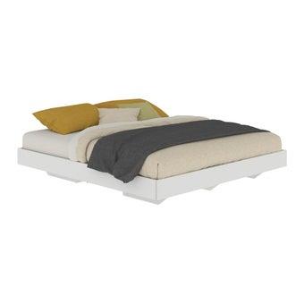 เตียงนอน ขนาด 5 ฟุต รุ่น Blissey สีขาว-00