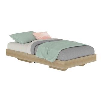 เตียงนอน ขนาด 3.5 ฟุต รุ่น Blissey สีโอ๊ค-00