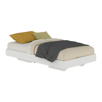 เตียงนอน ขนาด 3.5 ฟุต รุ่น Blissey สีขาว-00