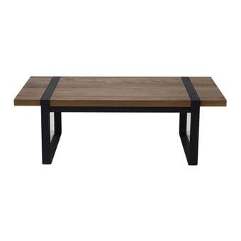โต๊ะกลาง โต๊ะกลางเหล็กท๊อปไม้ รุ่น G-Nine-SB Design Square