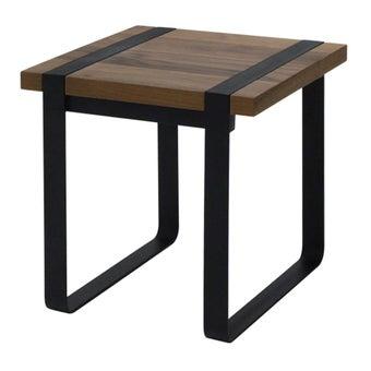 โต๊ะข้าง โต๊ะข้างเหล็กท๊อปไม้ รุ่น G-Nine-SB Design Square