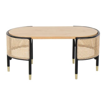 โต๊ะกลาง โต๊ะกลางเหล็กท๊อปไม้ รุ่น Xavier-SB Design Square