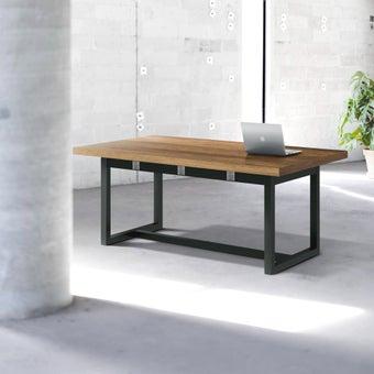 โต๊ะอาหาร รุ่น Jobbs สีเข้มลายไม้ธรรมชาติ-00