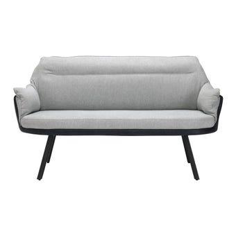เก้าอี้ทานอาหาร เก้าอี้เหล็กเบาะผ้า รุ่น Jelano สีสีเทา-SB Design Square