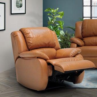 เก้าอี้พักผ่อนหนังสังเคราะห์ เก้าอี้พักผ่อน 1 ที่นั่ง รุ่น Banaris สีสีน้ำตาล-SB Design Square