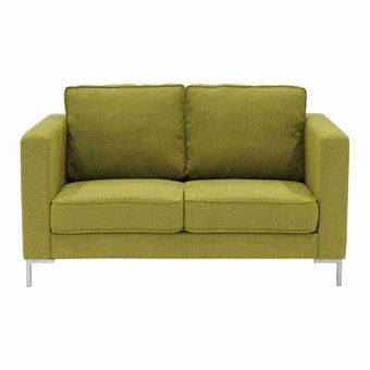 โซฟาผ้า โซฟา 2 ที่นั่ง สีสีเหลือง-SB Design Square