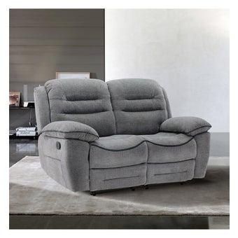 เก้าอี้พักผ่อนผ้า 2 ที่นั่ง รุ่น Unapo สีเทา-01