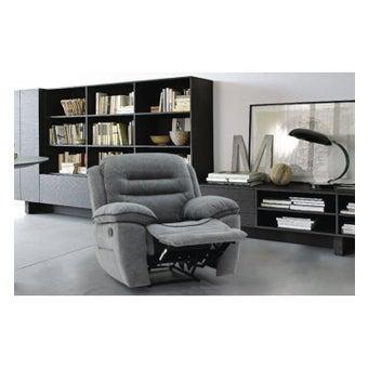 เก้าอี้พักผ่อนผ้า 1 ที่นั่ง รุ่น Unapo สีเทา-01