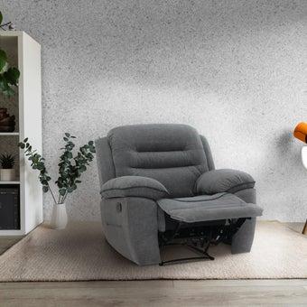 เก้าอี้พักผ่อนผ้า 1 ที่นั่ง รุ่น Unapo สีเทา 09