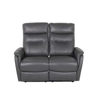เก้าอี้พักผ่อนหนังแท้ 2 ที่นั่ง รุ่น Liliana สีเทาเข้ม-03