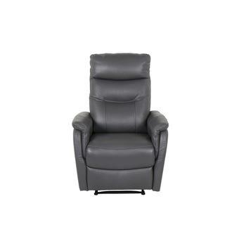 เก้าอี้พักผ่อนหนังแท้ เก้าอี้พักผ่อน 1 ที่นั่ง รุ่น Liliana สีสีเทา-SB Design Square
