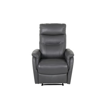 เก้าอี้พักผ่อนหนังแท้ 1 ที่นั่ง รุ่น Liliana สีเทาเข้ม-02