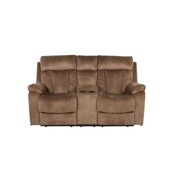 เก้าอี้พักผ่อนผ้า เก้าอี้พักผ่อน 2 ที่นั่ง รุ่น Leyla สีสีน้ำตาล-SB Design Square