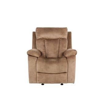 เก้าอี้พักผ่อนผ้า เก้าอี้พักผ่อน 1 ที่นั่ง รุ่น Leyla สีสีน้ำตาล-SB Design Square