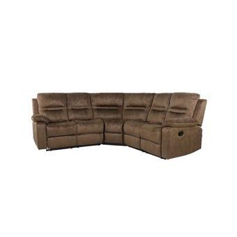เก้าอี้พักผ่อนผ้า เก้าอี้พักผ่อนเข้ามุม รุ่น Largest สีสีน้ำตาล-SB Design Square