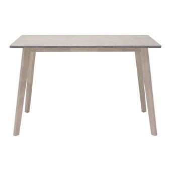 โต๊ะทานอาหาร โต๊ะอาหารไม้ล้วน รุ่น Wediya สีสีขาว-SB Design Square
