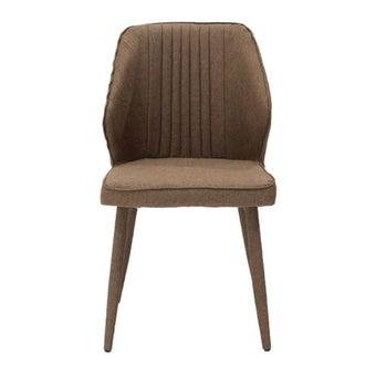 เก้าอี้ทานอาหาร เก้าอี้ไม้เบาะผ้า รุ่น Lacoast สีสีน้ำตาล-SB Design Square